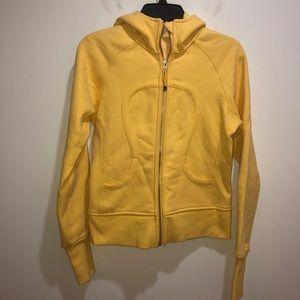 Lululemon Size 6 Lemon Yellow Scuba Hoodie